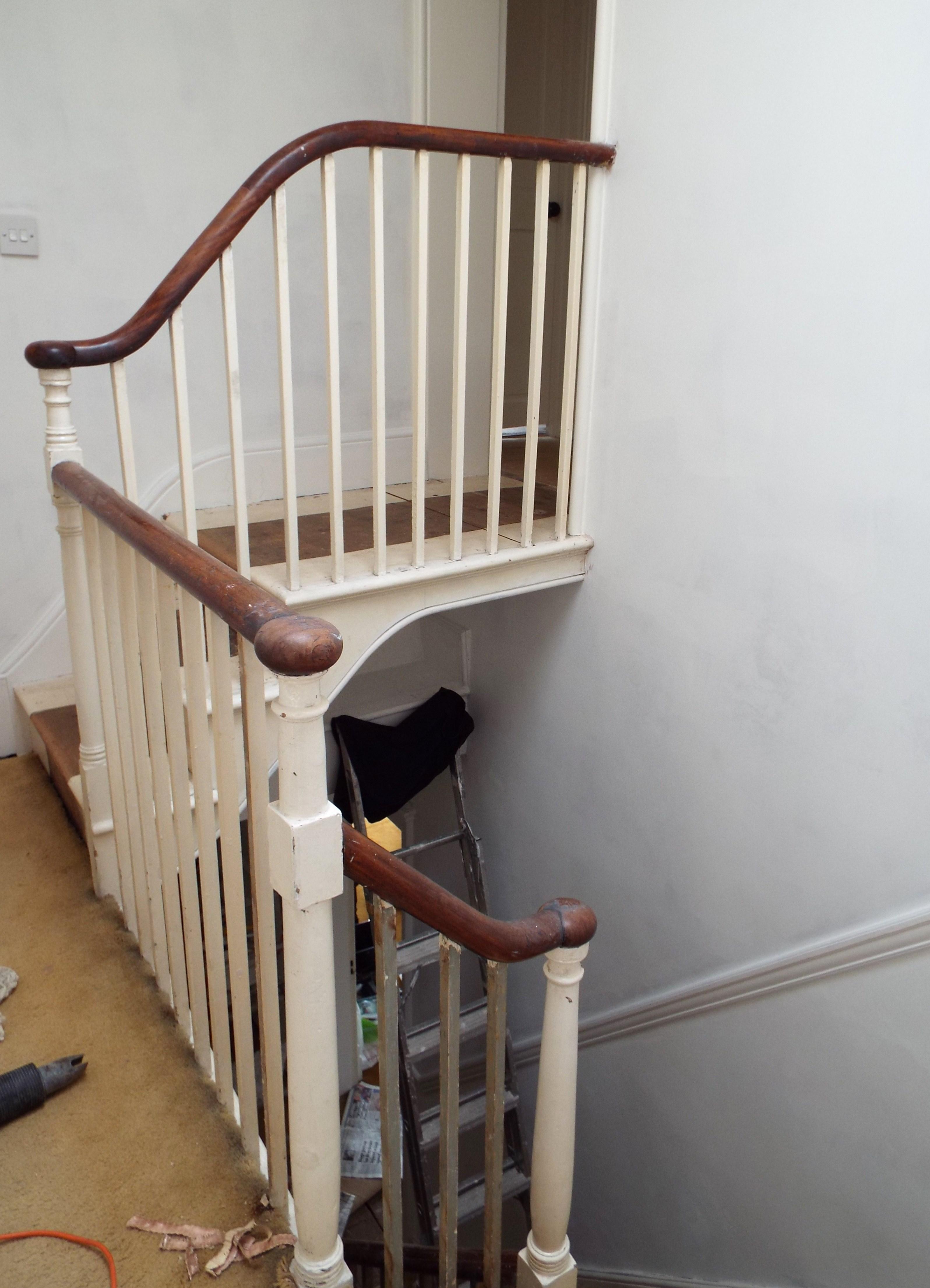 Mahogany or Ebony? The Great Handrail Debate – My lovely money pit